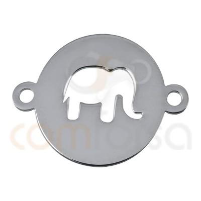 entrepieza chapa calada elefante 13mm plata 925