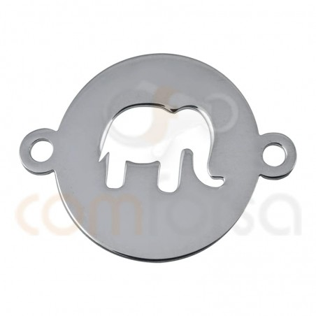Elephant connector 13mm sterling silver 925