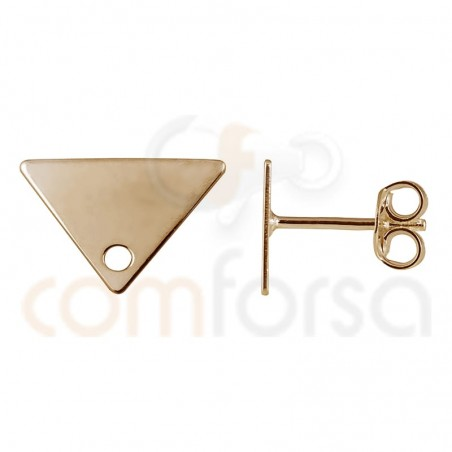 Sterling silver 925 rose gold-plated triangle earring 11 x 7 mm