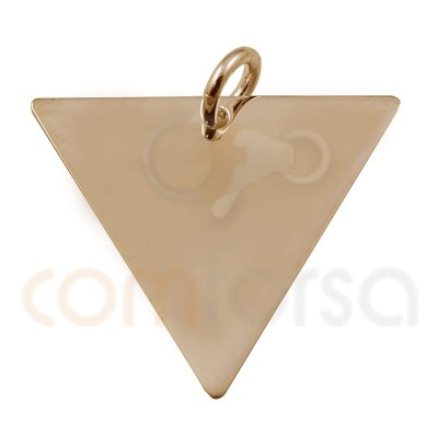 Triangular pendant 20x 17mm sterling silver gold rose plated
