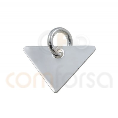 Triangular pendant 11x8mm sterling silver gold plated