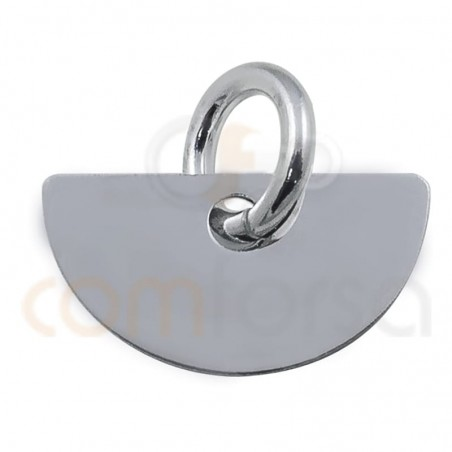 Medium circle pendant 11 x 6 mm sterling silver 925