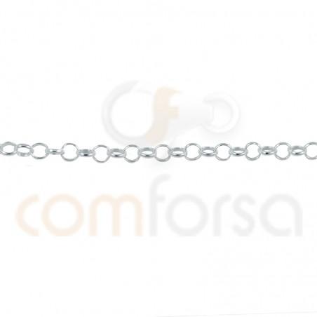 Cadena rolo 2.2 mm ( 0.5) plata 925