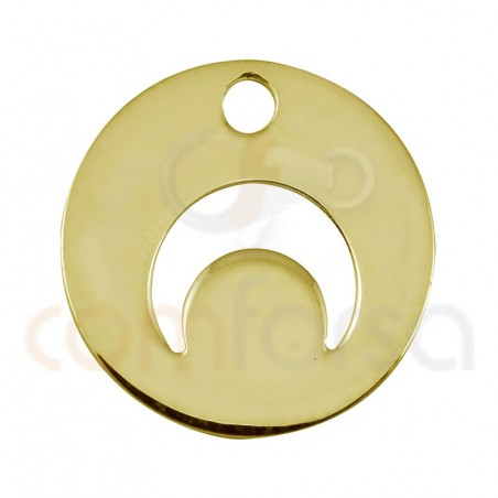Sterling silver 925 horn cut-out pendant 12mm