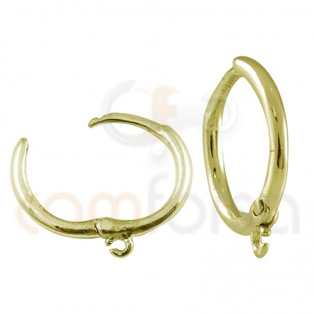 Sterling silver 925 hoop earring with ring 12 mm