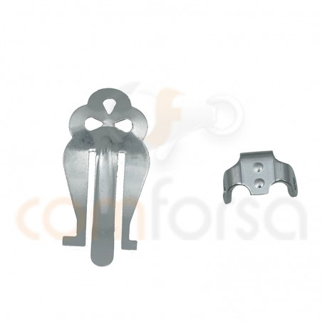 Sistema clip grande 21 x 10mm plata 925 ml