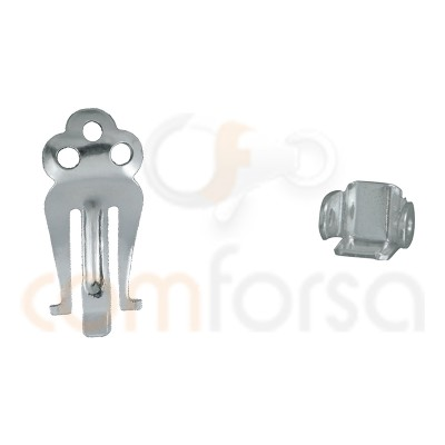 Sistema clip pequeño 17 x 7mm plata 925 ml