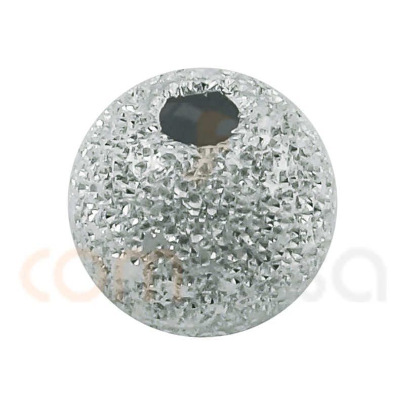 Sterling silver 925 Round laser cut bead 3 mm