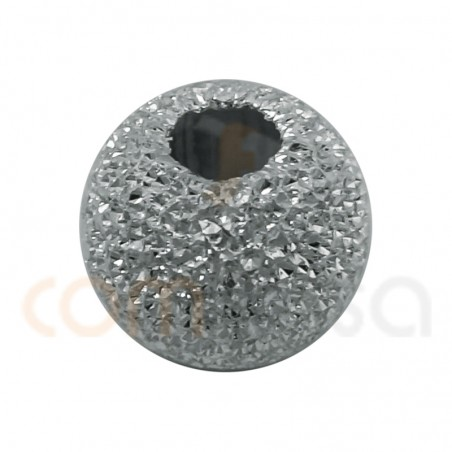 Sterling silver 925 Round laser cut bead 4 mm