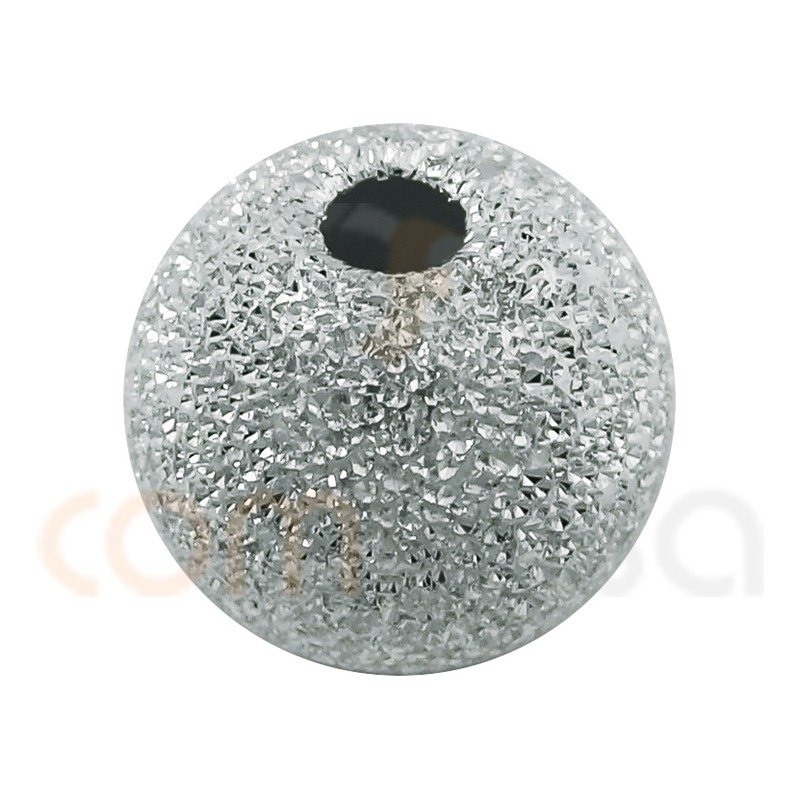 Sterling silver 925 Round laser cut bead 5 mm