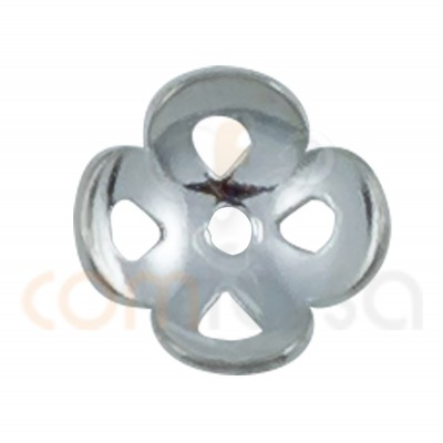 Sterling silver 925ml Cap with 4 petals 7 mm
