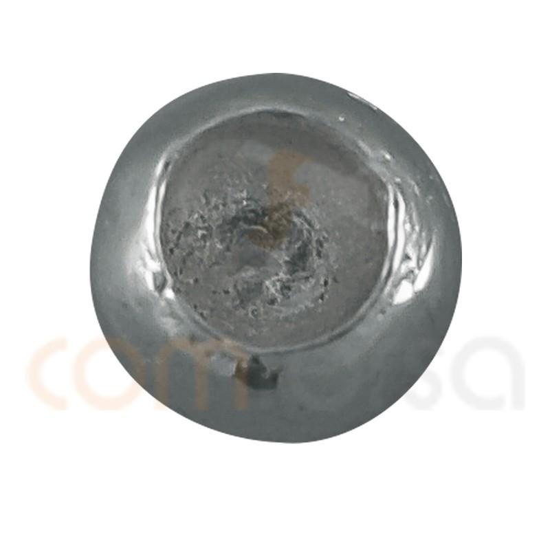 Sterling silver 925 bead ending for gluing 4 mm