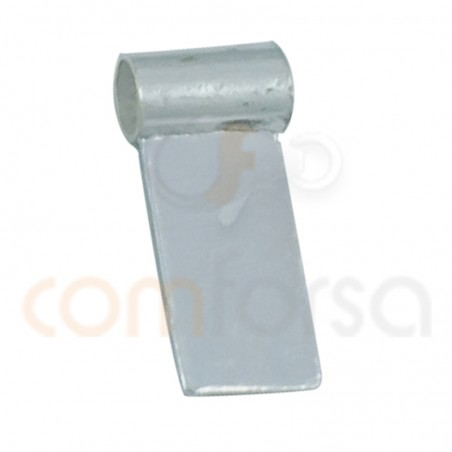 Sterling silver 925 finding for gluing gems with tube 12 x 5 mm