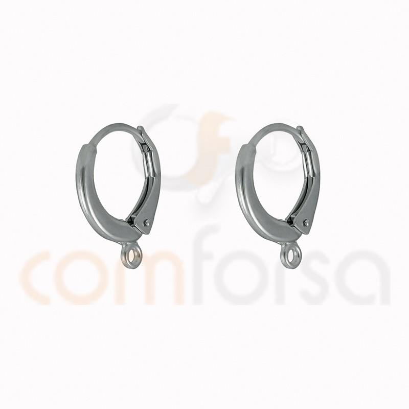 Pendiente pala con anilla 14 x 17mm plata 925