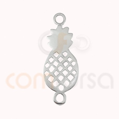 sterling silver pineapple connector 19 x 10 mm