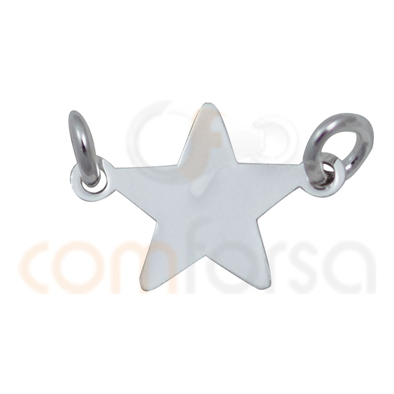 Sterling Silver 925ml star connector 13 mm