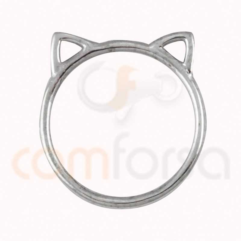 Sterling silver 925ml cat connector 13 x 14 mm