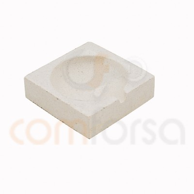 Square bowl 50 x 50 mm refractory