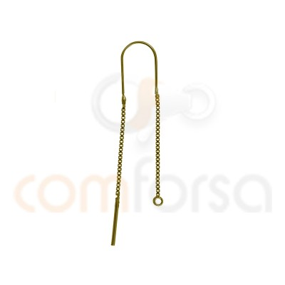 Sterling silver 925 gold-plated Ear threads 35 mm