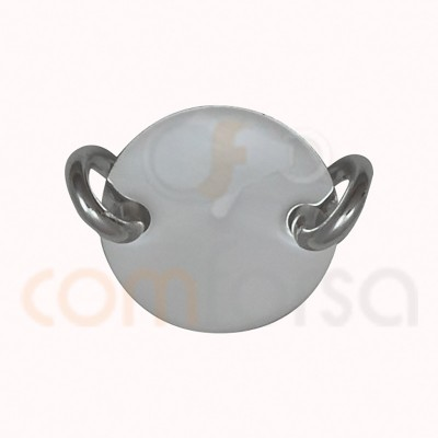 Sterling silver 925ml plain medallion connector 10 mm