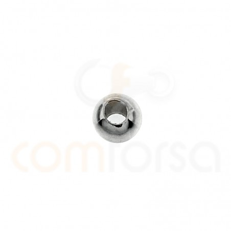 Sterling silver smooth ball 3 mm (1.2)