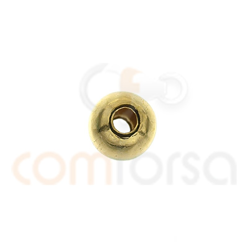 Bola lisa 3 mm (1.5  interior) gold filled