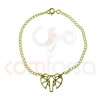 Diamond cut curb bracelet 16 cm sterling silver gold plated