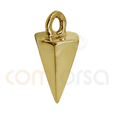 Spike charm 8 mm sterling silver gold plated