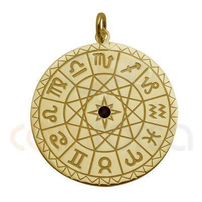 Mini Horoscope Charm 11 Mm Sterling Silver gold plated
