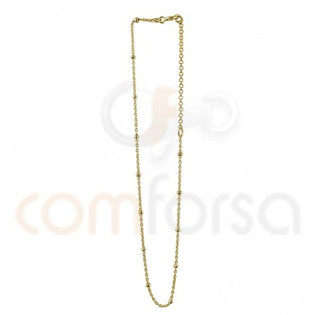 Sterling silver 925 gold-plated balls anklet