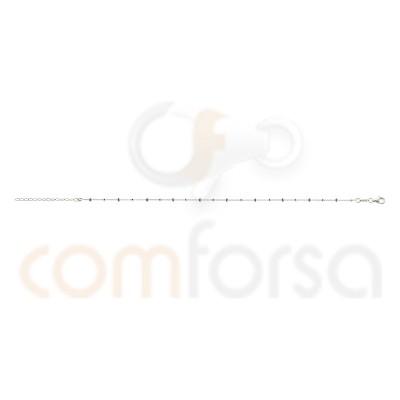 Sterling silver 925 Mint enamel balls anklet bracelet 21.5cm + 4.5cm
