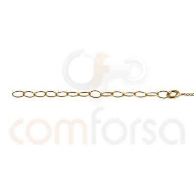 Gold plated serling silver fuchsia enamel balls anklet bracelet  21.5+4.5