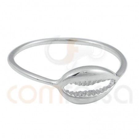 Sterling silver  925 shell ring