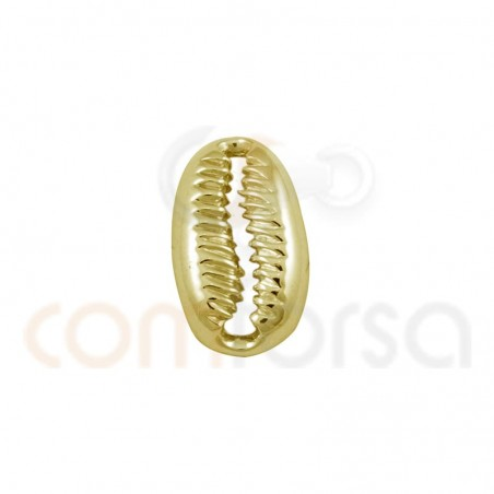 Gold plated sterling silver shell pendant