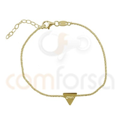 Sterling silver bracelet chain with triangle 17 + 3cm