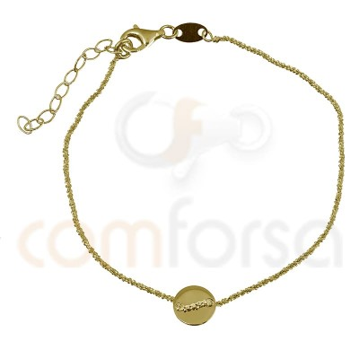Sterling silver bracelet with circle 17 + 3cm