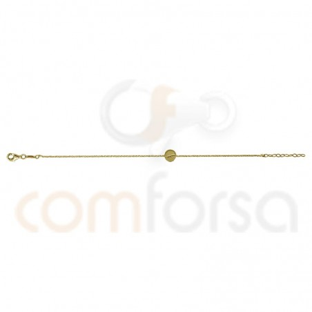 Sterling silver 925 gold-plated bracelet with circle 17 + 3cm