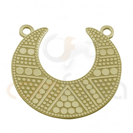 Gold plated sterling silver ethnic connector 20 mm