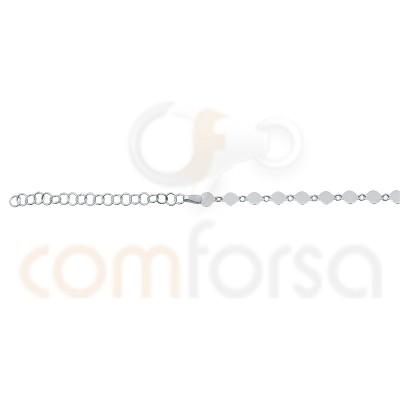 Sterling silver 35 + 5 cm pendants chains