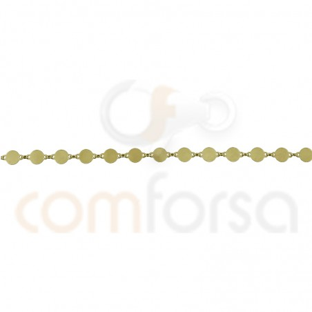 Gold plated sterling silver 4 mm engraving pendants chain
