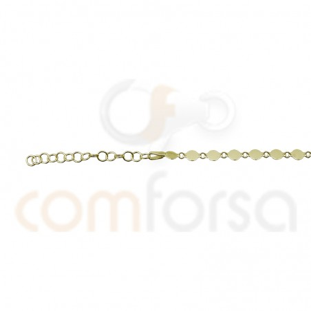 Sterling silver 925 anklet with round charms