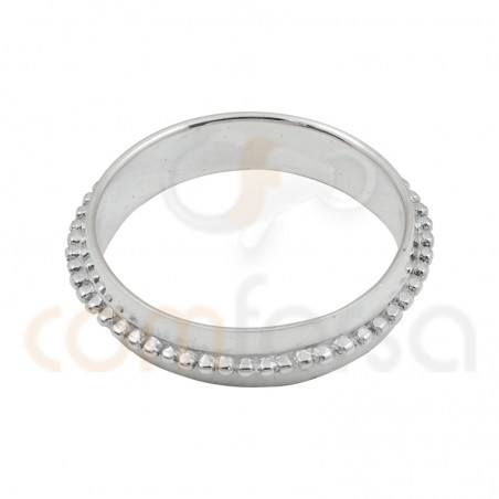 Bubble textured sterling silver ring 5mm