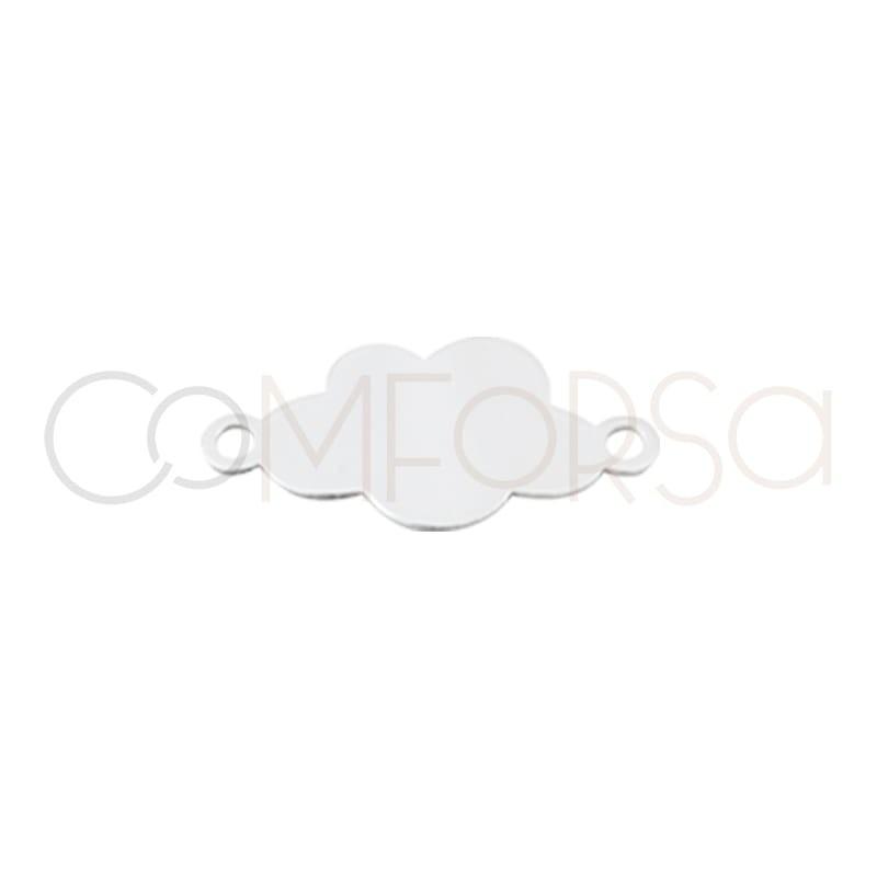 Entrepieza chapa nube 14 mm plata 925