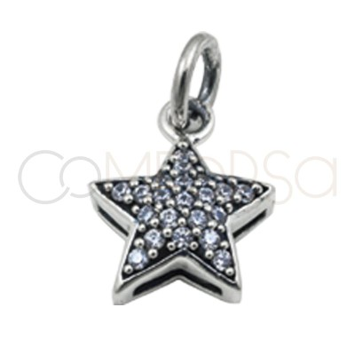 Colgante estrella circonitas 11.5 mm plata 925