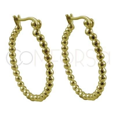 Sterling silver 925 hoop earrings 26 mm with 2.5 mm