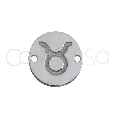 Entrepieza horóscopo Tauro bajo relieve 10 mm plata 925