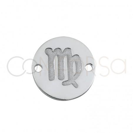 Entrepieza horóscopo Virgo bajo relieve 10 mm plata 925