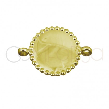 Gold plated silver plate connector with edge 15 mm