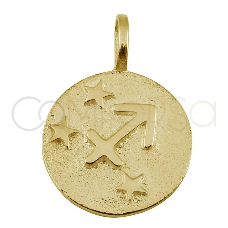 Gold plated silver Sagittarius horoscope pendant