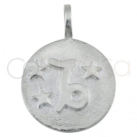 Colgante horóscopo Capricornio alto relieve plata 925